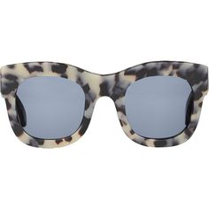 Illesteva Hamilton Matte Tortoise Sunglasses (32575 RSD) ❤ liked on Polyvore featuring accessories, eyewear, sunglasses, glasses, jewelry, multi, illesteva glasses, matte tortoise sunglasses, matte sunglasses and acetate glasses