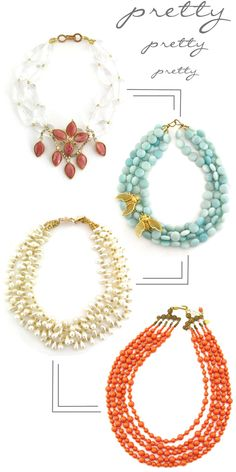 Beautiful, Chunky Necklaces!