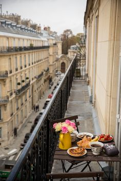 Our apartment rental in Paris, complete with an amazing balcony