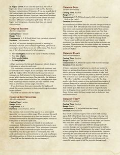29 Best D&D Spells: Homebrew images in 2018 | Dnd 5e homebrew