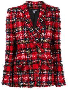 Tweed Blazer, Leather Blazer, Tweed Jacket, Open Collar Shirt, Collar Shirts, Alexandre Vauthier, Rachel Comey, Blazer Floral, Stella Mccartney