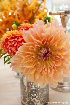 Flowers In Mercury Glass