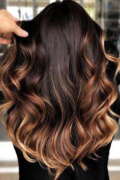 Fall Hair Color For Brunettes, Fall Hair Colors, Brown Hair Colors, Fall Winter Hair Color, Hair Colours, Brown Ombre Hair, Brown Blonde Hair, Blue Hair, Wavy Hair
