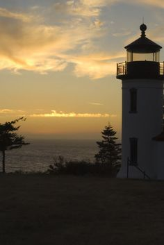 Lighthouse at Fort Casey State Park, Whidbey Island.