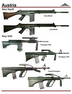 Styre Arms StG.54 & AUG Prototypes.