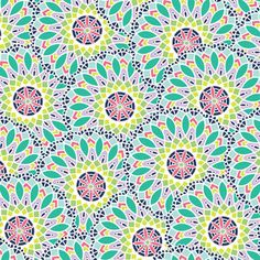 Maude Asbury - Geofabulous - Kaleidoscope in Blue. Buying it for my little girl's room for some cute valances. She has requested purple walls. :)