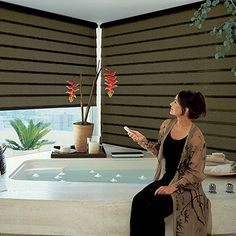 1000 images about remote control window shades on for Bali blinds motorized remote control