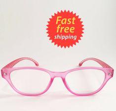 f1639ddb8c18 Betsey Johnson Reading Glasses Tortoise Style Pink Face Striped Print Legs  +2.00  BetseyJohnson