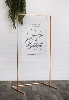 """Copper Pipe Wedding Frame - Copper Sign Stand - Wedding Backdrop - """" You are in the right place about trends board Here we offer you the most beautiful pictures ab - Cool Backdrops, Wedding Backdrops, Wedding Backdrop Design, Ceremony Backdrop, Copper Frame, Wedding Frames, Wedding Photos, Wedding Blog, Gown Wedding"""