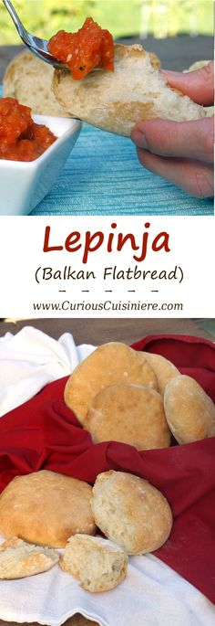 Lepinja (Balkan Flatbread) Lepinja, or Somun, is a soft and … Lepinja (Balkan Flatbread) Lepinja, or Somun, is a soft and fluffy bread from the Balkans in Southeastern Europe that makes the perfect accompaniment to any meal. Bosnian Recipes, Croatian Recipes, Bread Recipes, Cooking Recipes, Macedonian Food, Dinner Rolls, International Recipes, The Best, Food And Drink