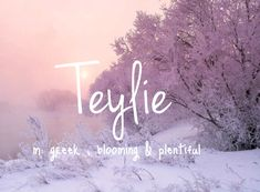 Teylie - unique and pretty baby girl name!