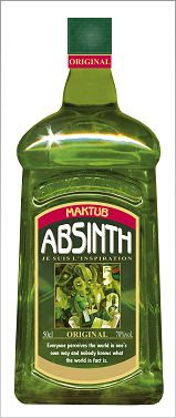 Maktub is an #absinthe with a twist, made according to a 1920s recipe. And yes, it does taste (and feels) good. Also available in red & black. Available from absinthe.in for USD145.