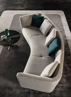Incredible Sofa Design Inspiration is a part of our furniture design inspiration series. Furniture design inspirational series is a weekly showcase of incredible furniture designs from all around the world. Gebogenes Sofa, Sofa Furniture, Sofa Set, Luxury Furniture, Modern Furniture, Furniture Design, Minotti Furniture, Handmade Furniture, Furniture Dolly