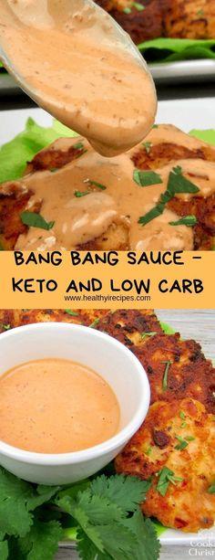 Bang bang sauce - keto and low carb - healthy recipes keto diet- chicken di Healthy Low Carb Recipes, Ketogenic Recipes, Low Carb Keto, Diet Recipes, Cooking Recipes, Slimfast Recipes, Crab Recipes, Vegetarian Recipes, Keto Snacks
