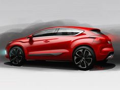 Citroën DS4: design sketches