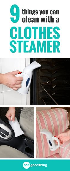 A handheld clothes steamer can help keep your clothes wrinkle-free, but did you know you could use one to keep your home clean too? Here are 9 surprising things you can clean with a handheld clothes steamer.