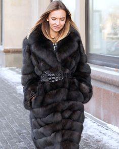 Fur Fashion, Womens Fashion, Sable Fur Coat, Fox Coat, Mantel, Women Wear, Mink, How To Wear, Romantic