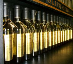 Hundreds of bottles of extra virgin olive oil is in stock with one a huge selection of varieties to choose from,