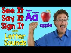 Learn sign language for each letter and the letter sounds for each letter of the alphabet. Jack shows the sign for each letter and the letter sounds for each. Sign Language Songs, Sign Language Alphabet, Learn Sign Language, Language Arts, English Language, Teaching The Alphabet, Teaching Phonics, Alphabet Activities, Teaching Strategies