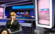 Behind the scenes during rehearsals for The Pattie Lovett-Reid Show.