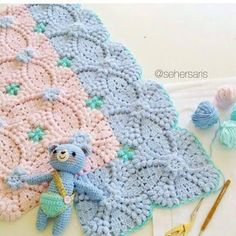 Irish crochet &: Baby blanket ..... Детский плед