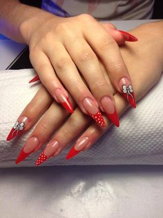 Sharp red nails www.justnails.ro #nails #rednails