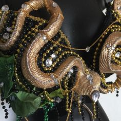 .Medusa Bra for Halloween or rave - on etsy - great idea for a DIY