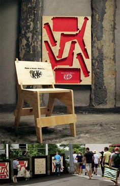 KitKat: Chair posters Cannes 2010