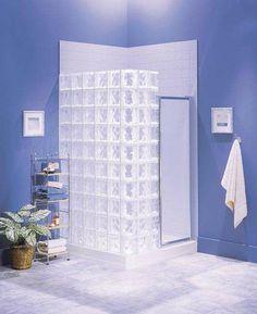 Moderne Räume mit Glasbaustein badezimmer dusche | Hinterhaus ... | {Glasbausteine dusche led 56}