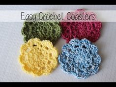Easy Crochet Coasters: Great for Beginners!
