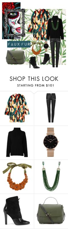 """Faux fur 2"" by teresa-ramil ❤ liked on Polyvore featuring H&M, Emporio Armani, CLUSE, Liberty, 3.1 Phillip Lim and DKNY"