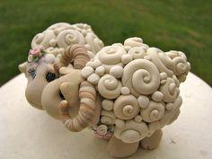 SOOOO STINKIN CUTE!  I Love Ewe Keepsake Wedding Cake toppers by theaircastle