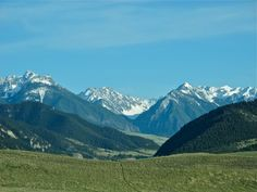 Absaroka Mountains, Livingston, Montana  There's something magical about this place.