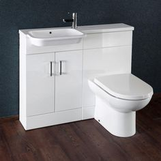 Browse the sleek Emporio Compact Semi-Recessed Combination Basin and WC Unit online. Left and right hand options are available. In stock now. Cloakroom Vanity Unit, Vanity Units, Semi Recessed Basin, Concealed Cistern, Basin Unit, Units Online, Bathroom Installation, Bungalow Renovation, Small Bathroom