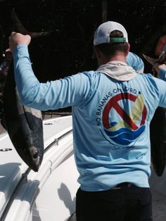 "And this is how you catch blackfin tuna with a ""No Bananas on Board"" Salt Strong performance shirt on. POW! Well done Josh Kuder. Thanks for sending us the pic."