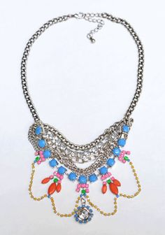 ColorBlockShop - neon rhinestone jewelry, geometric necklaces