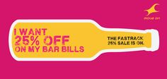 I want 25% off on my Bar bills #25reasonstoshop Flat 25% OFF on Bags, Belts, Wallets & Sunglasses!