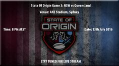 WATCH State Of Origin 2016 Live stream | New South Wales Blues vs Queensland live