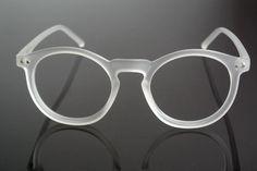 301b5363c1 Armazón Semi Transparente sin lentes estilo Retro Vintage blanco Hipster  Diseñador Moda