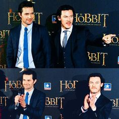 [ 11.07.16 ]  #tb to Richard Armitage and Luke Evans at the Desolation of Smaug premiere back in 2013  I am not sure but I think it was in Madrid (correct me if I am wrong :) )  It's almost two years since this journey ended and it makes me want to cry -  #richardarmitage #thehobbit #thedesolationofsmaug #dos #lukeevans #luketeer #luketeers