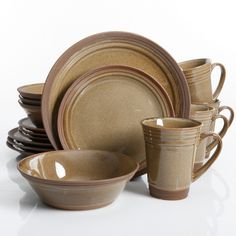 Gibson Elite Brynn 16 Piece Dinnerware Set Amber  sc 1 st  Pinterest & Sango Soho 16-pc. Dinnerware Set | Dinnerware | Pinterest ...