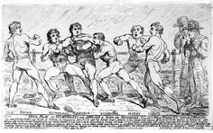 The Famous Battle Between Richard Humphreys and Daniel Mendoza, January 1788 (engraving) by James Gillray Alphonse Mucha, Mendoza, James Gillray, January 9th, Photo Puzzle, Boxer, Battle, Canvas Prints, Fine Art
