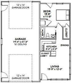 G450 60 x 50 -10\' Apartment Barn Style_Page_1 | SDS Plans | cabin ...