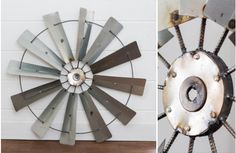 Add industrial farmhouse style with this metal windmill wall decor! Use this large decorative windmill art to transform your home. For more windmill blades wall decor ideas visit, Decor Steals.