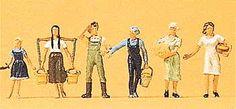 Preiser 10295 - Farm workers, male/female