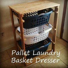 Laundry basket dresser