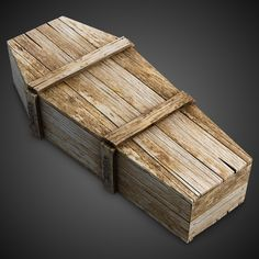 Old Coffin 3 3D 3Ds - 3D Model