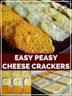 Easy Peasy Cheese Crackers - Low Carb, Gluten Free by lilly No Carb Recipes, Ketogenic Recipes, Cooking Recipes, Ketogenic Diet, Carb Free Foods, Carb Free Snacks, Cooking Kale, Atkins Recipes, Pescatarian Recipes