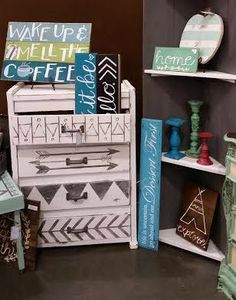 Dresser Redo with Fusion Mineral Paint, Show, Book Giveaway Furniture Update, Furniture Makeover, Home Furniture, Kitchen Furniture, Furniture Ideas, Painting Fabric Furniture, Painted Furniture, Hand Painted Dressers, Native American Decor