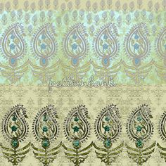 Paisley Pattern Border | Patternbank